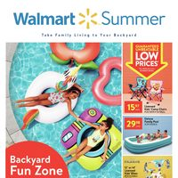 Walmart - Summer Book - Take Family Living To Your Backyard Flyer