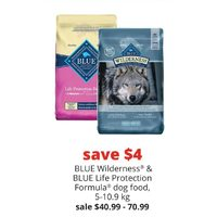 Blue Wilderness & Blue Life Protection Formula Dog Food
