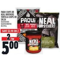 Paqui Chips Or Neal Brothers Tortilla Chips Or Salsa