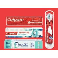 Colgate Optic White, Sensitive Pro-Relief or Zero or Sensodyne or Pronamel Value Size Toothpaste Colgate Mouthwash or Colgate Battery Toothbrushes