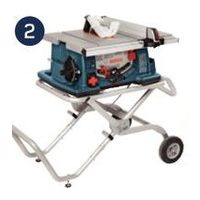 "Bosch 10"" Portable Table Saw With Stand"