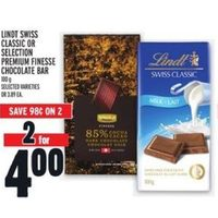 Lindt Swiss Classic Or Selection Premium Finesse Chocolate Bar