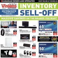 Visions Electronics - Weekly - Inventory Sell-Off Flyer