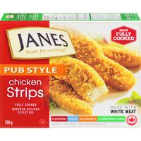 Janes Pub Style Chicken Strips, Nuggets, Burgers or Popcorn Chicken
