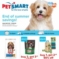PetSmart - End of Summer Savings! Flyer