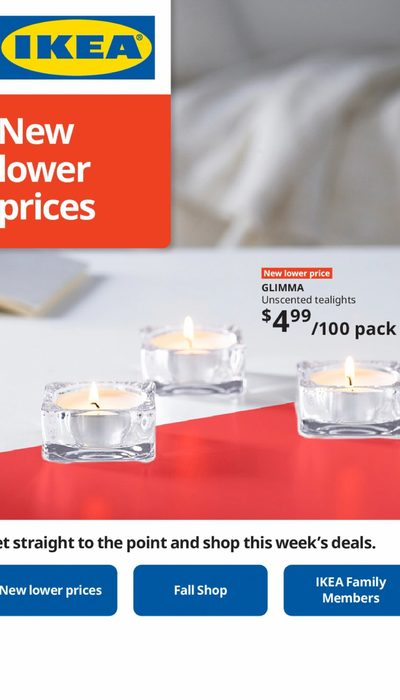 IKEA - New Lower Prices Flyer