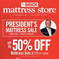 The Brick - Mattress Store - President's Matress Sale Flyer