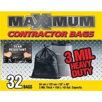 Maximum 42-Gal Heavy Duty Contractor Bags