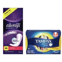 Always Pads or Liner or Tampax Tampons