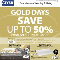 JYSK - Weekly - Gold Days Flyer