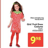 Girls' Fruit Dress Costume