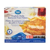 Great Value English Style Battered Fish Fillets, Crispy Breaded Haddock Fillets Or Breaded Fish Sticks