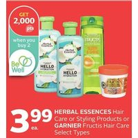 Herbal Essences Hair Care or Styling Products or Garnier Fructis Hair Care