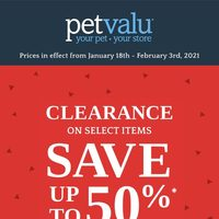 Pet Valu - Clearance Sale Flyer