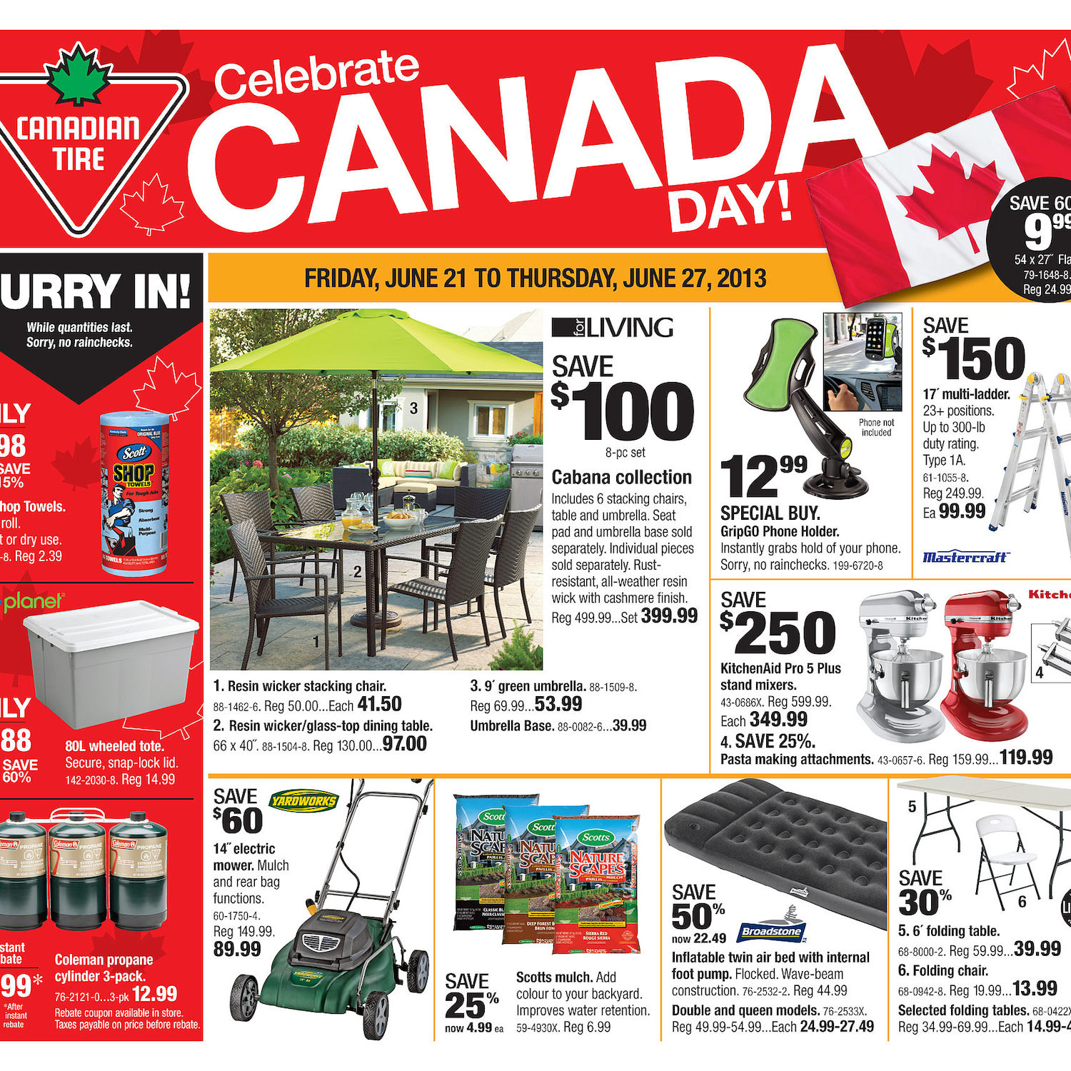 canadian tire weekly flyer weekly flyer jun 20 27
