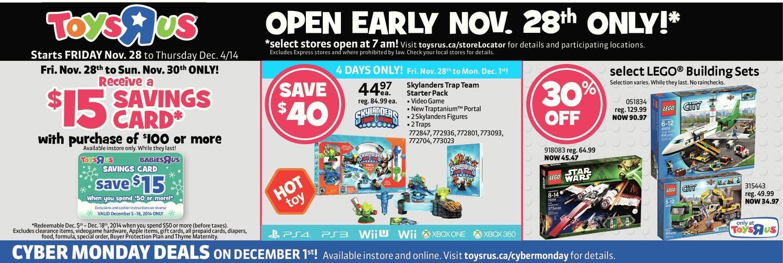 7fe55bfed8c Toys R Us Weekly Flyer - 1 2 Price Event Starts Black Friday - Nov 28 – Dec  4 - RedFlagDeals.com