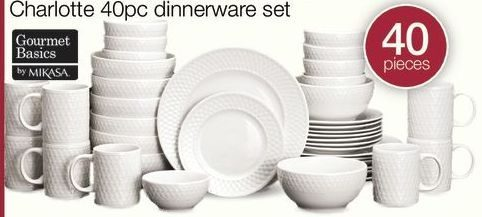 Home Outfitters Gourmet Basics By Mikasa Charlotte 40 Pc. Dinnerware Set - RedFlagDeals.com & Home Outfitters: Gourmet Basics By Mikasa Charlotte 40 Pc ...