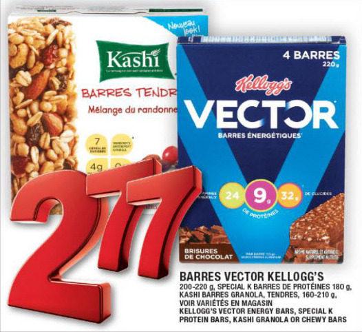 Super C: Kellogg's Vector Energy Bars, Special K Protein