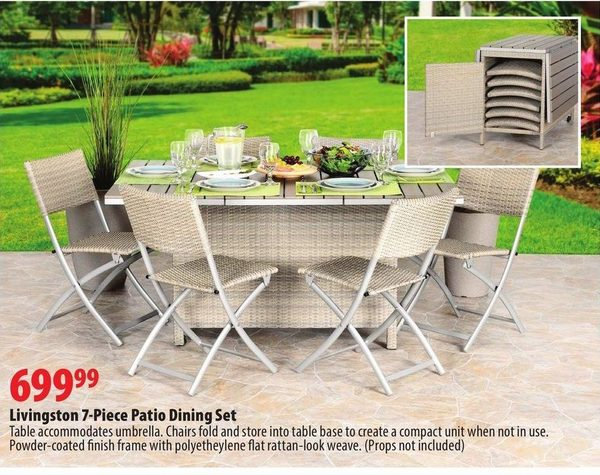 london drugs livingston 7 piece patio dining set redflagdeals com rh  redflagdeals com - London Drugs Patio Furniture - Amazing Interior Design Ideas •
