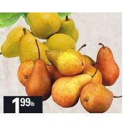 Bartlett or Bosc Pears - $1.99/lb