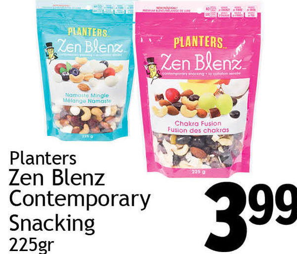Quality Foods: Planters Zen Blenz Contemporary Snacking ... on