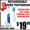 Rechargeable Power Toothbrush - $19.99