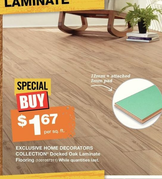 Home Depot Home Decorators Collection Docked Oak Laminate Flooring