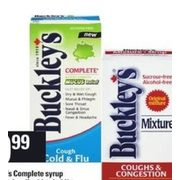 Buckley's Completed Syrup or Liquid Gels - $9.99