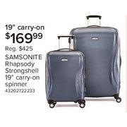 25ebbb06d Samsonite Rhapsody 19 Inch Strong Shell Spinner Carry-on Suitcase - $169.99
