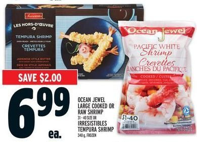 Metro Ocean Jewel Large Cooked Or Raw Shrimp Or Irresistibles
