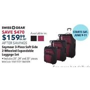 SWISSGEAR Seymour 3-Piece Soft Side 2-Wheeled Expandable Luggage Set, 3-Days Only - $159.99 ($470.00 off)