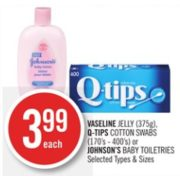 Q-Tips Cotton Swabs - $3.99