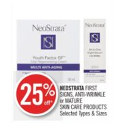 25% Off Neostrata First Signs Skin Care Products