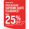 Bauer Prior Seasons Supreme Skate Clearance - 25% off