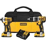 "Dewalt 20 V Max XR Brushless 1/2"" Compact Hammer Drill and 1/4"" Impact Driver Kit - $299.99"