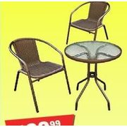 Arctic Sky Premium Wicker 3 Piece Bistro Set - $69.99