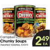 Campbell's Chunky Soups - $2.49