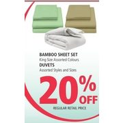 Bamboo Sheet Set, Duvets - 20% off