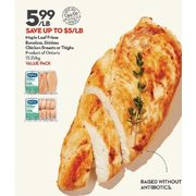 Maple Leaf Prime Boneless, Skinless Chicken Breasts or Thighs - $5.99/lb (Up to $5.00 off)