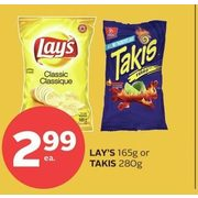 Lay's Or Takis - $2.99