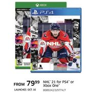 NHL 21 For PS4 Or Xbox One - From $79.99