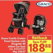 Graco Comfy Cruiser Travel System With Snugride 30 Infant Car Seat - $188.88 ($71.09 off)