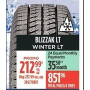 Blizzak LT Winter LT Tires - $212.99