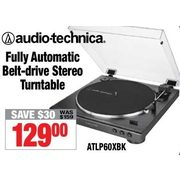 Audio-technica Fully Automatic Belt-Drive Stereo Turntable - $129.00 ($30.00 off)